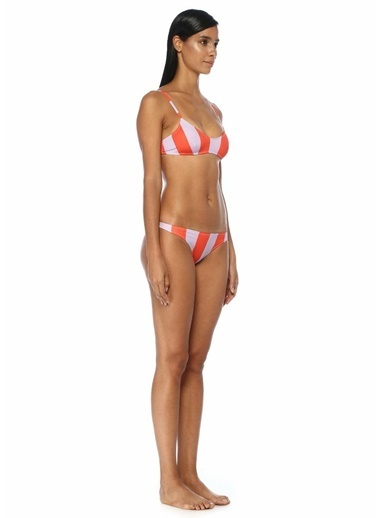 Solid & Striped Bikini Üst Kırmızı